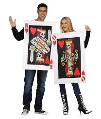 king and queen of skeleton hearts couples costume funny costumes