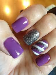 purple nails with sparkles idea for co activity plus