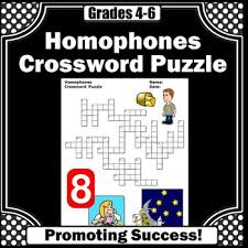 homophones worksheets crossword puzzle for ela speech therapy