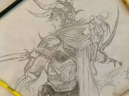 my pencil drawing the warrior of light