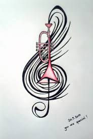trumpet drawing for my brother u0027s b day romana design