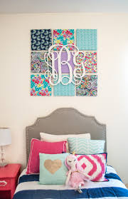 DIY Fabric Wall Art Monogram Wall Kids Rooms And Monograms - Canvas art for kids rooms