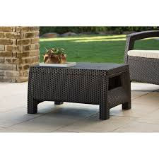 coffee table small rattan outdoor side table collection in round