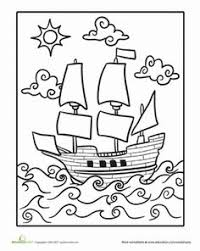 mayflower ship thanksgiving coloring page stuff to pr nt