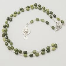 connemara marble rosary connemara marble celtic cross oval rosary