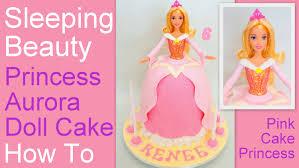 How To Make Sugar Glue Cake Decorating How To Make A Princess Aurora Doll Cake Disney U0027s Sleeping Beauty