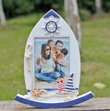 3 5 x5 photo album creative boat shape photo frame wood desktop household adornment