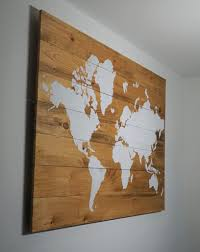 World Map Wood Wall Art by Stable Series U2013 Aries Den