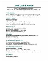 Occupational Therapy Resume Example by Resume Template Best One Page Free Download Essay And Throughout