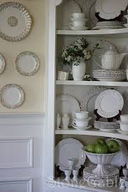 how to arrange a corner china cabinet stonegable summer cupboard china cabinet decor china