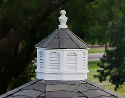 Wooden Roof Finials by Vinyl Octagon Cupola