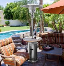 Patio Heater Heat Shield by 87 U2033 Tall Stainless Steel Outdoor Patio Heater With Wood Table