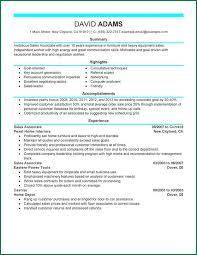 Furniture Sales Resume Sample by Furniture Sales Associate Resume Sample Contegri Com