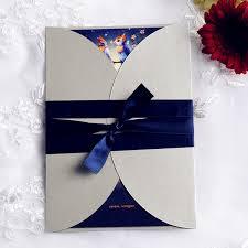 Royal Blue Wedding Invitations Royal Blue Love Bird Pocket Invitations With Ribbon Iwgy078