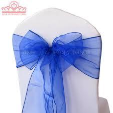 royal blue chair covers free shipping 100pcs royal blue chair cover organza sash