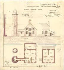 Lighthouse Home Floor Plans by Isle Royal Lighthouse Architectural Drawing 1875 U2013 Michiganology