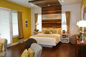 bedrooms rustic bedroom with white bed and rustic wood headboard