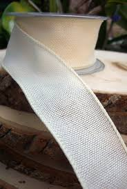 burlap wired ribbon ivory burlap wired 2 wide ribbon 10yds
