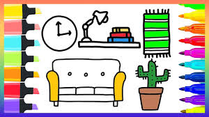 how to draw living room tool kit set for kids coloring pages art