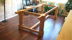 how to build a table base building a trestle table trestle table base diy trestle table