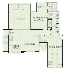 House Plans With Bonus Room Traditional Style House Plan 3 Beds 2 50 Baths 2360 Sq Ft Plan