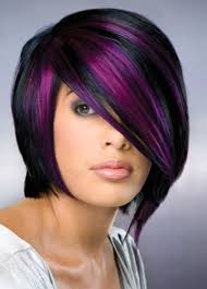 short hairstyles with peekaboo purple layer hair and tattoos purple highlights for short hair books worth