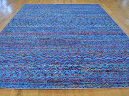 Sari Silk Rugs by 9 U0027 X 11 5 U0027 Modern Sari Silk Multicolored Oriental Rug Hand Knotted
