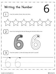 writing numbers for kindergarten preschool printable worksheets myteachingstation