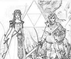 85 legend zelda coloring pages images