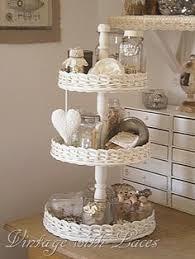 Tiered Bathroom Storage Vintage Wooden 2 Tiered Cake Stand Treen By Backroomvintagestore