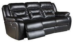 Black Leather Sofa Recliner Leather Reclining Sofa Ebay