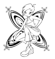 winx club coloring pages tecna winx club pinterest stamps