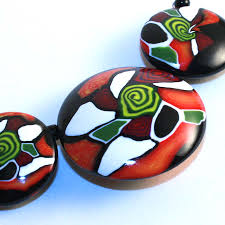 painted glass gifts home decor jewelry art polymer clay beads
