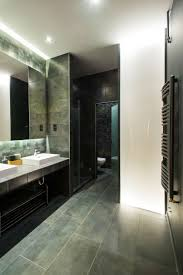 Navy Blue Bathroom by Modern Loft With Surprising Elements Slate Blue Bathroom Tile Tsc