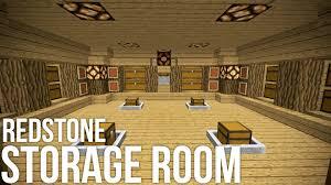 minecraft coolest redstone storage room redstone invention