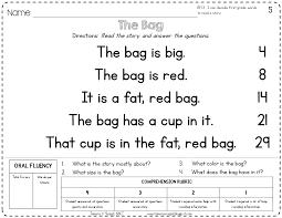 free reading comprehension worksheets for kindergarten worksheet