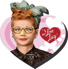 i love lucy heart magnet