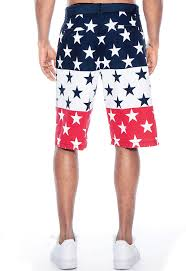 American Flag Workout Shorts True Rock Men U0027s Usa American Flag Stars And Stripes Walking Shorts