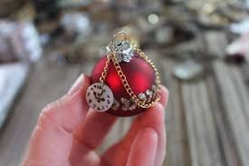 santa u0027s pocket watch christmas tree ornament bohemianromance