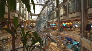 cruise ship luxury interior atrium hall and promenade adventure