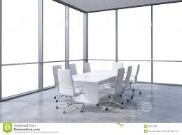 modern office conference table panoramic corner conference room in modern office copy space view