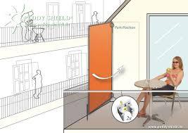 sonnenschutz balkon ohne bohren sichtschutz terrasse ohne bohren jago sichtschutz windschutz