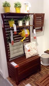hide some storage wooden storage bench balconies and goodies