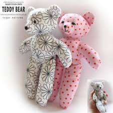 make your own teddy teddy sewing pattern easy craft template make your own