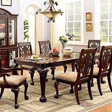 petersburg english style 7 piece formal dining table set review