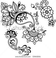 henna flower banque d u0027images d u0027images et d u0027images vectorielles