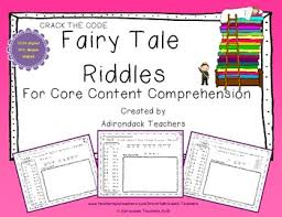 fairy tale riddles for core content comprehension kids of all ages