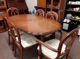 Yew Dining Table And Chairs Lounge Dining Room Furniture Sofas Flemings Furniture And