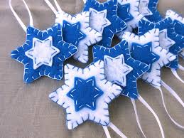 10 blue felt of david decorations hanukkah ornaments