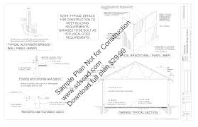 g417 36 u0027 x 44 u0027 x 9 u0027 garage plans store front motorcycle repair